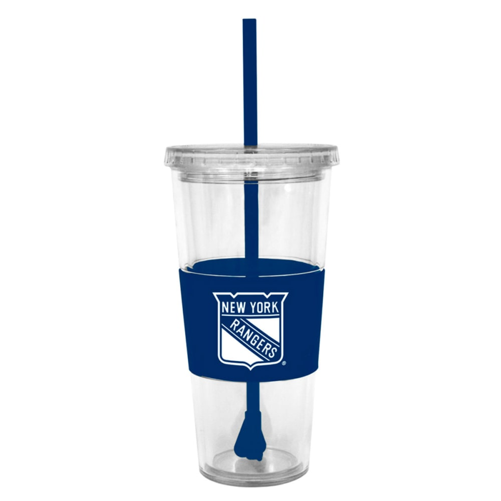 NEW YORK RANGERS Tumbler with Lid and Straw - ASSORTED