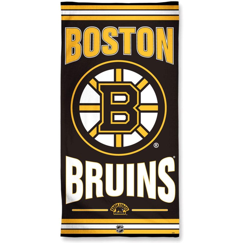 BOSTON BRUINS Beach Towel- BLOWOUT - BLACK