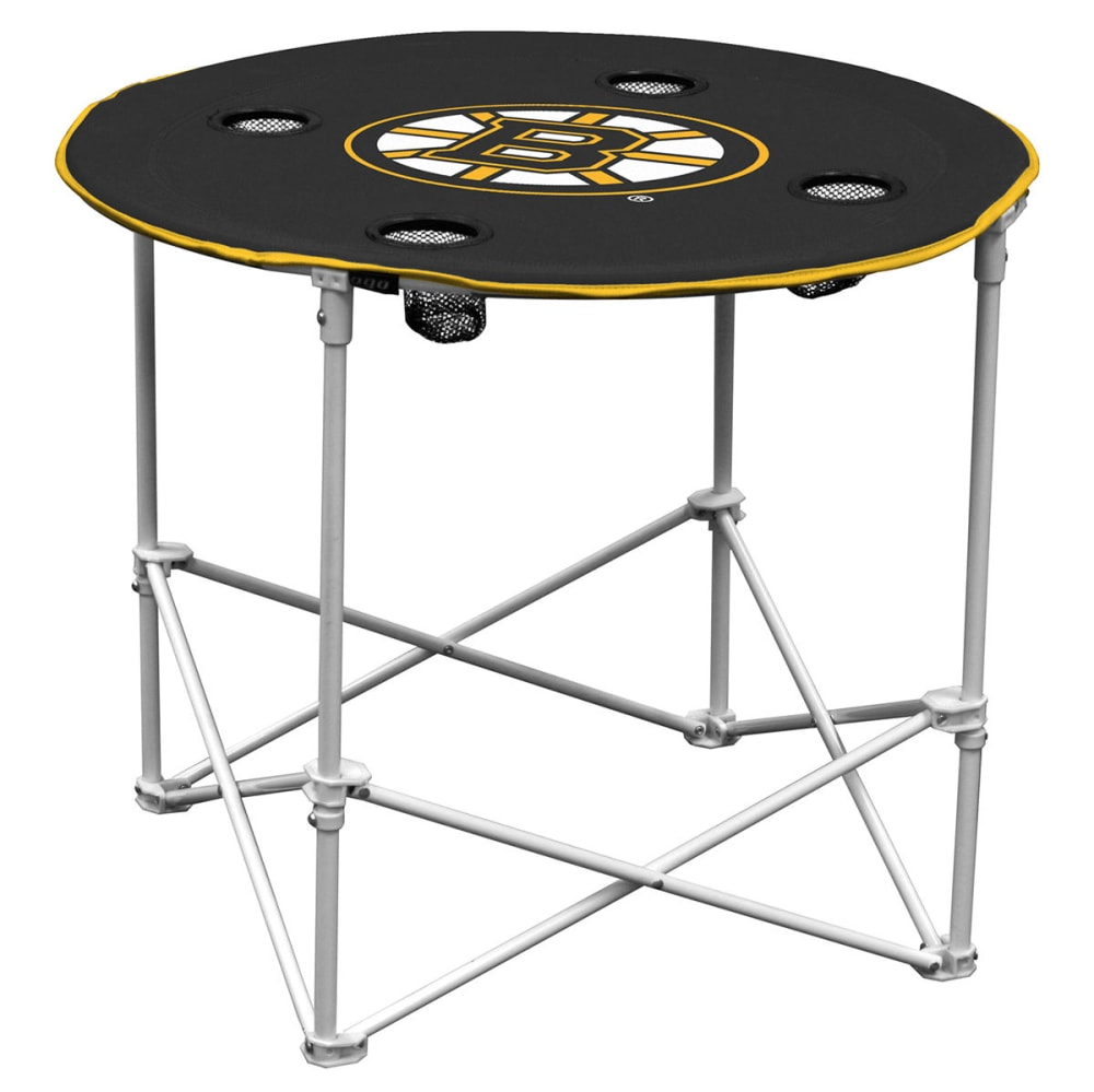 BOSTON BRUINS Round Table - GREY HOUNDSTOOTH