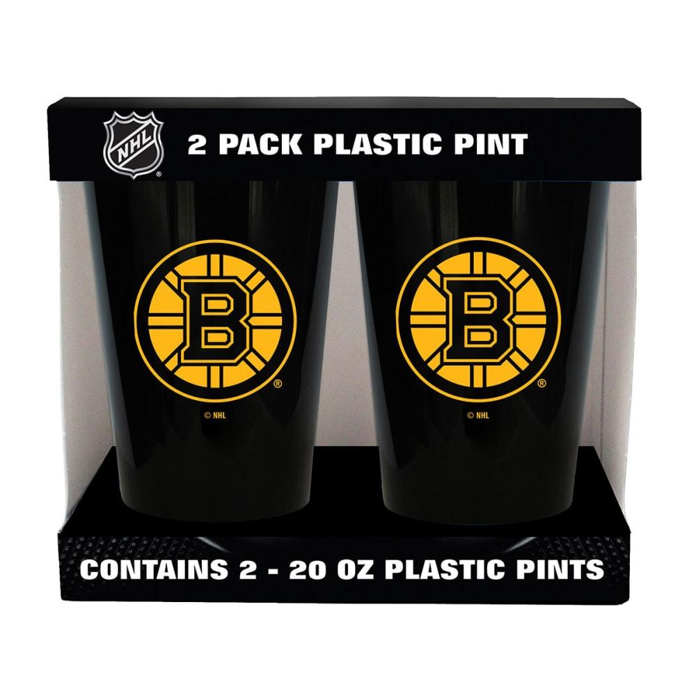 BOSTON BRUINS Two Pack Plastic Pints - BLACK