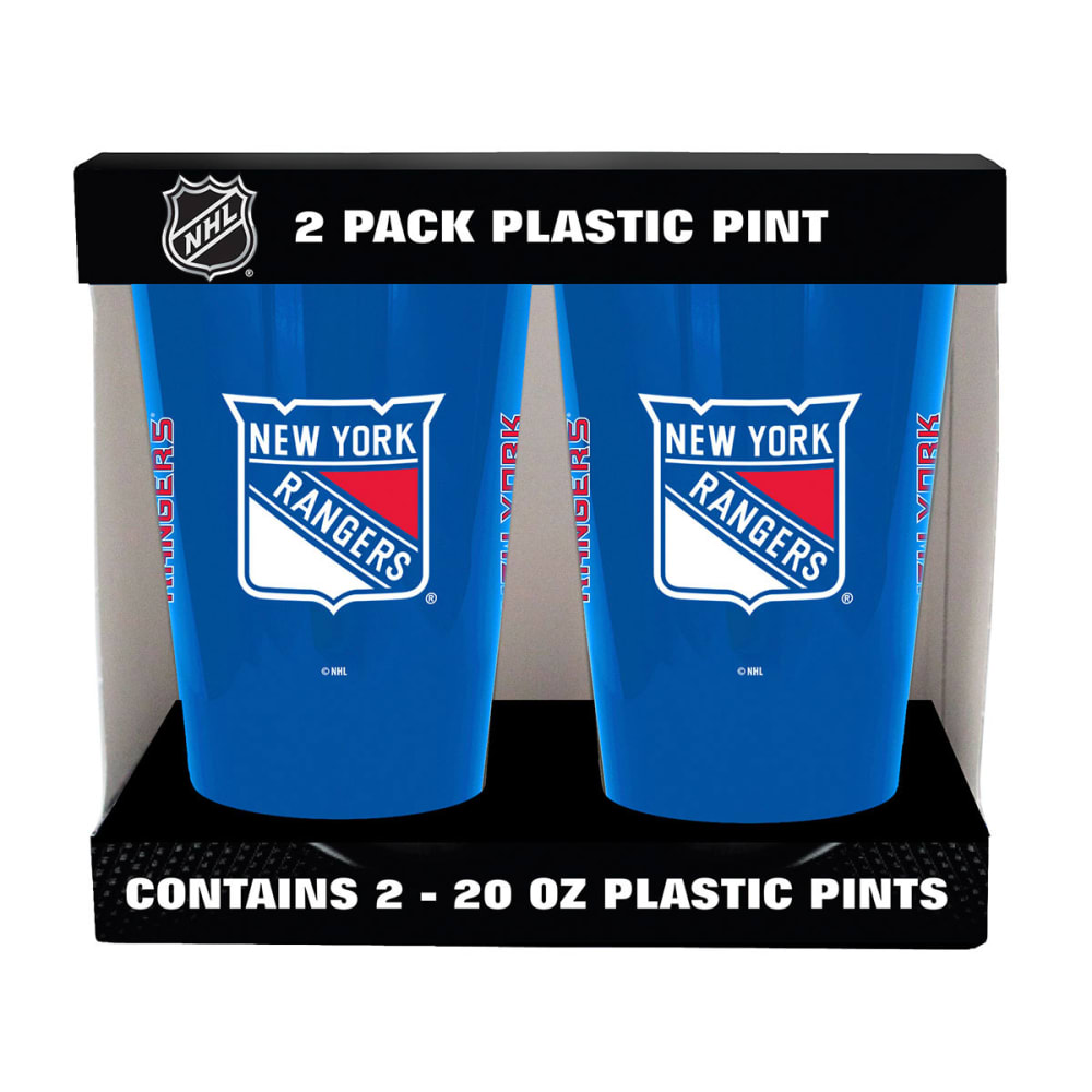 NEW YORK RANGERS Two Pack Plastic Pints - NAVY