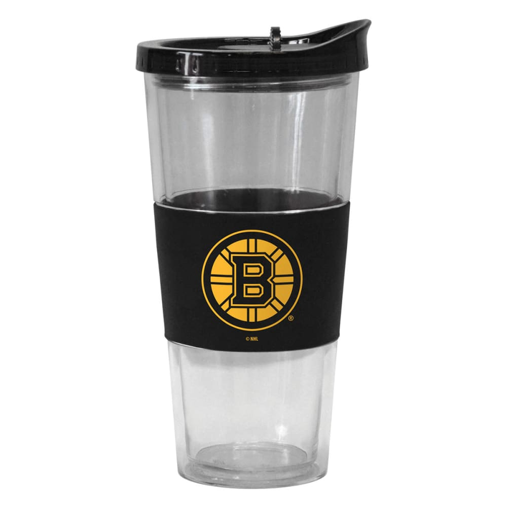 BOSTON BRUINS Slider Top Tumbler Compatible with Propeller Straw - BLACK