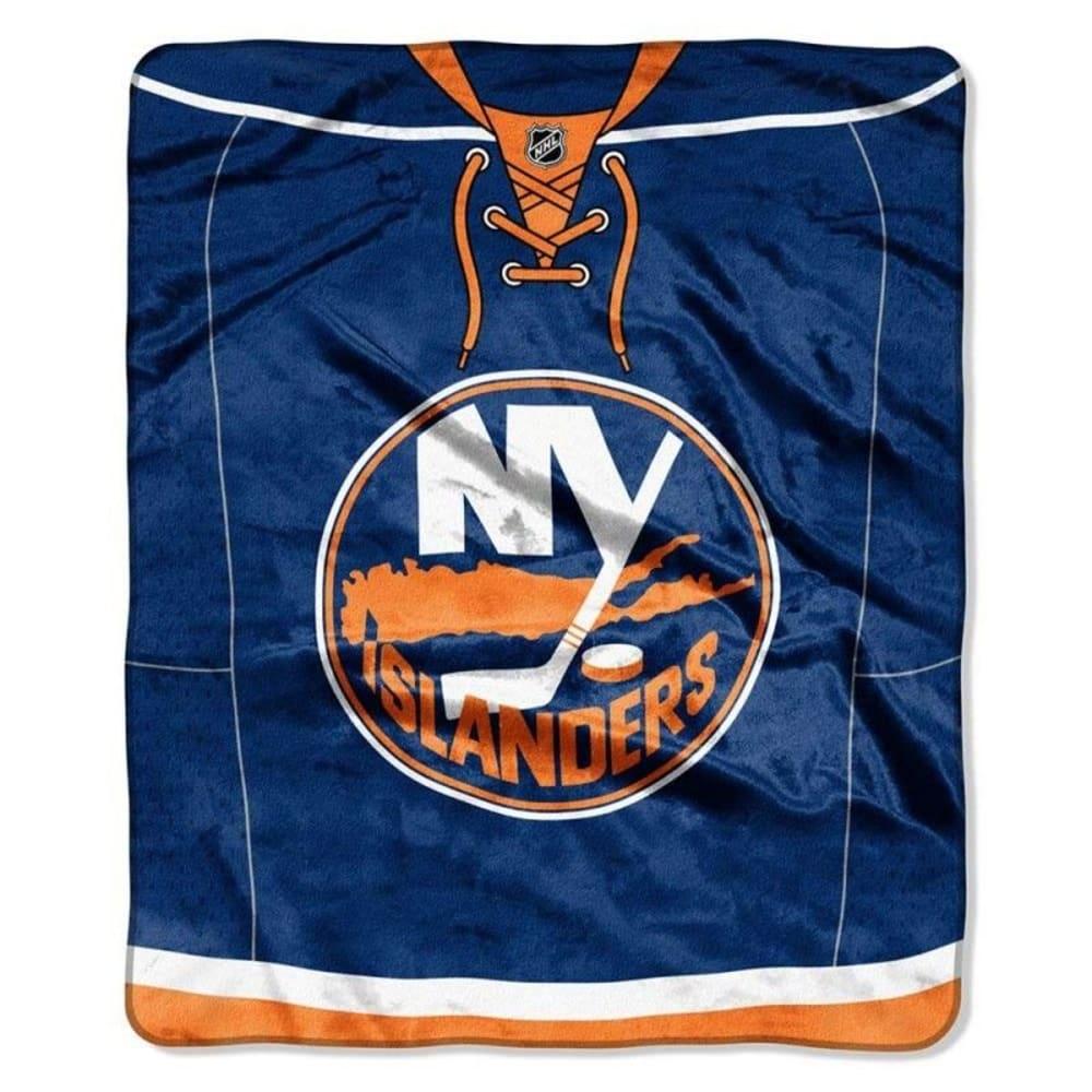NEW YORK ISLANDERS Raschel Throw Blanket ONE SIZE