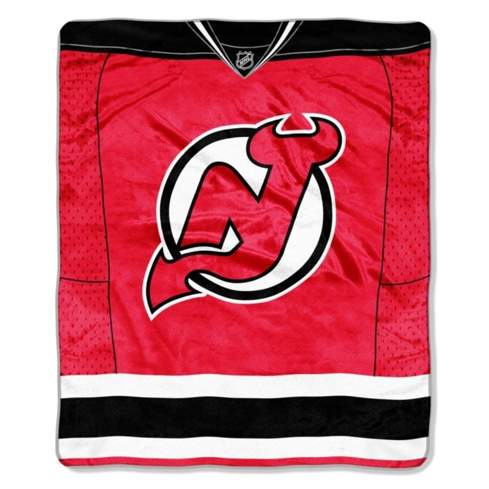 NEW JERSEY DEVILS Raschel Throw Blanket - RED