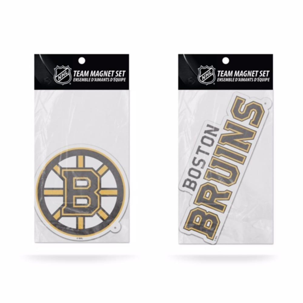 BOSTON BRUINS 2-Piece Magnet Set ONE SIZE