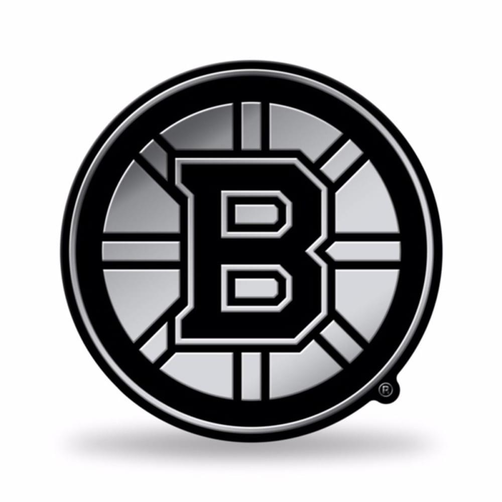 BOSTON BRUINS Chrome Auto Emblem - GREY HOUNDSTOOTH