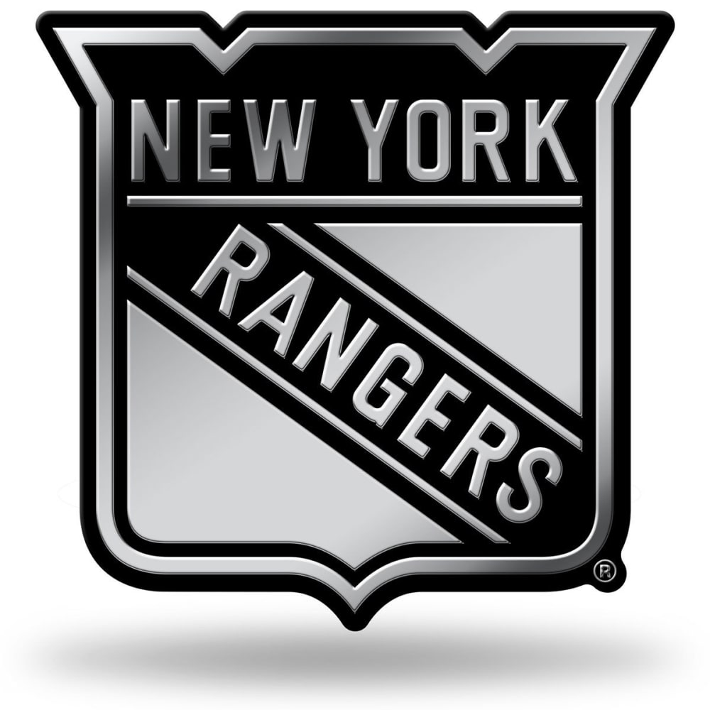 NEW YORK RANGERS Chrome Auto Emblem - DARK CRIMSON