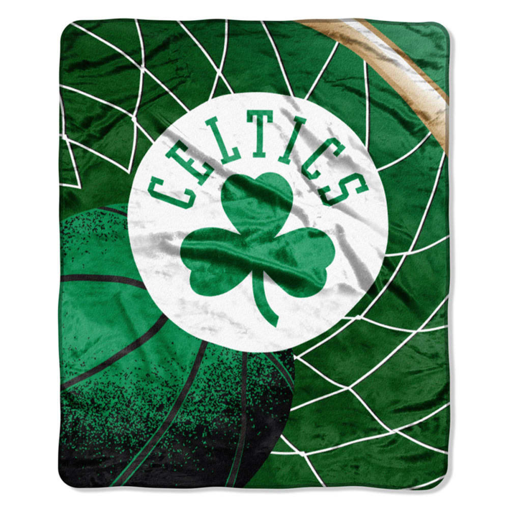 BOSTON CELTICS Raschel Throw Blanket - GREEN