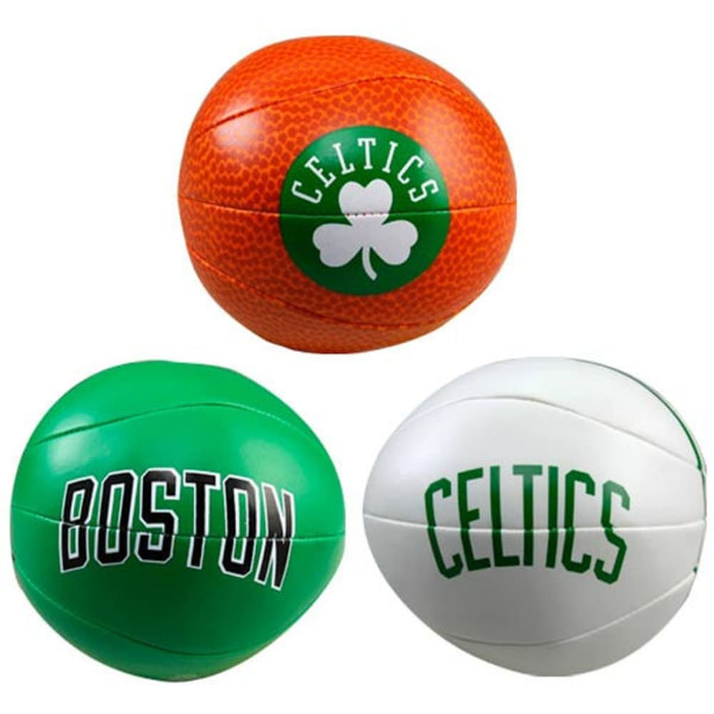BOSTON CELTICS 3 Point Shot Softee Basketballs, 3-Pack - ASSORTED