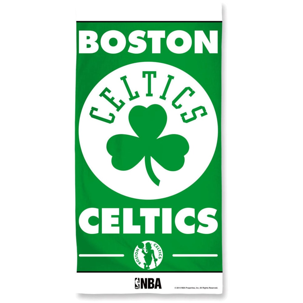 BOSTON CELTICS Beach Towel - BLOWOUT - GREEN
