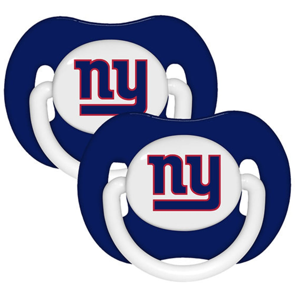 NEW YORK GIANTS Pacifier, 2 Pack - DARK CRIMSON
