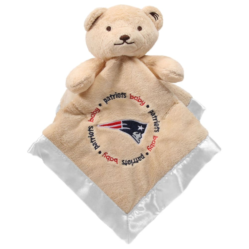 NEW ENGLAND PATRIOTS Infant's Security Blanket - WHITE/CHINCHILLA