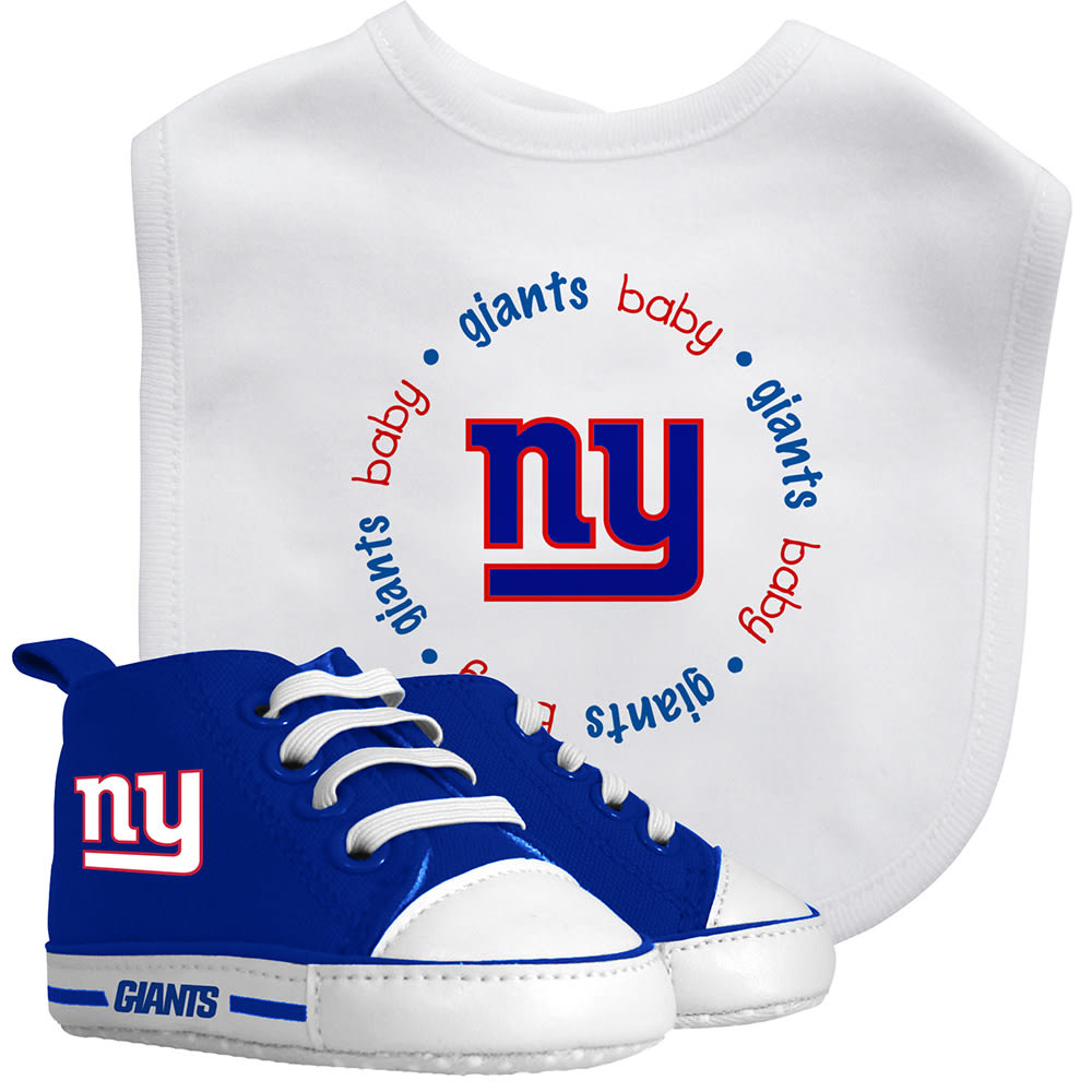 NEW YORK GIANTS Infant Boys' Prewalker Bib and Shoes Set - DARK CRIMSON
