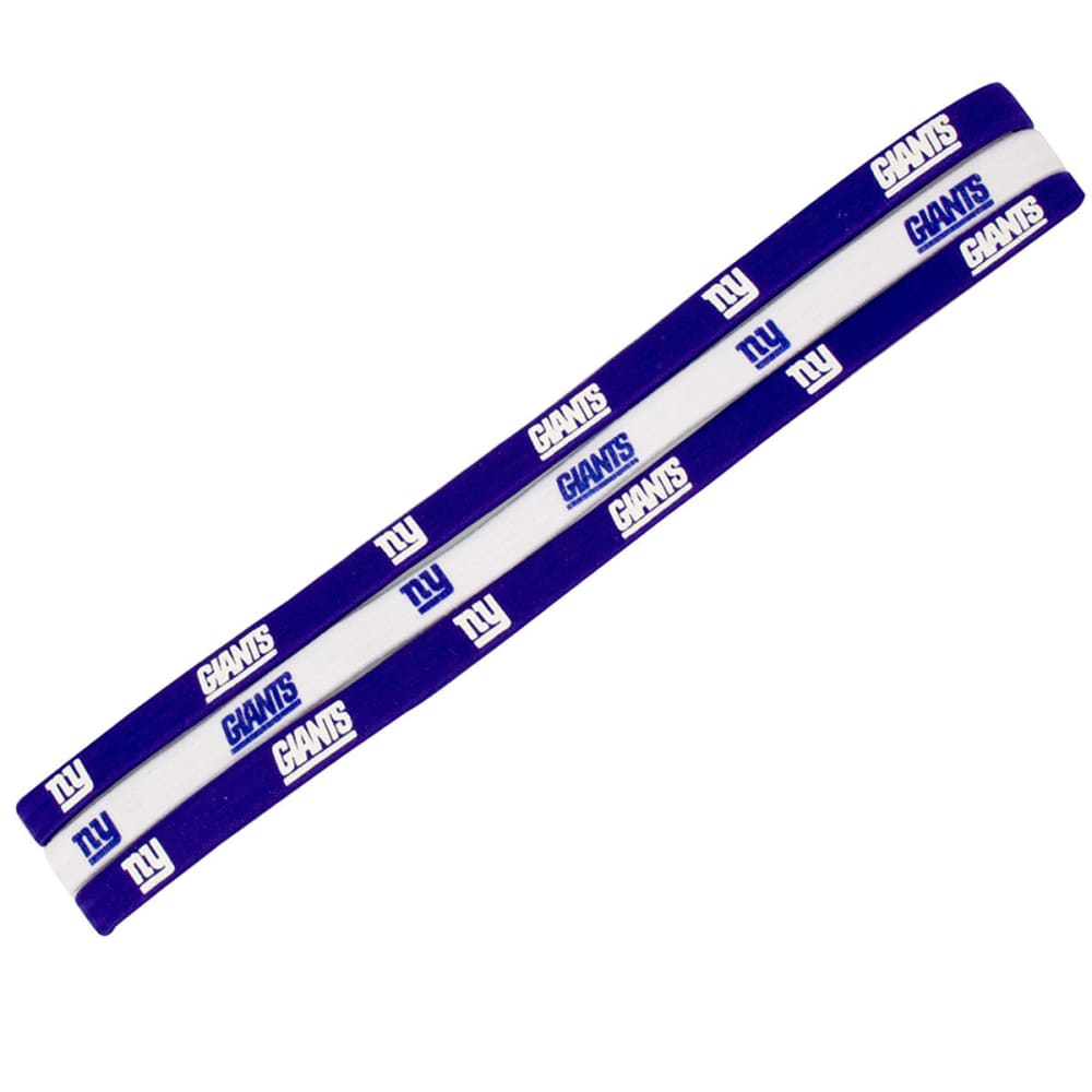 NEW YORK GIANTS Elastic Headband, 3-Pack - GIANTS