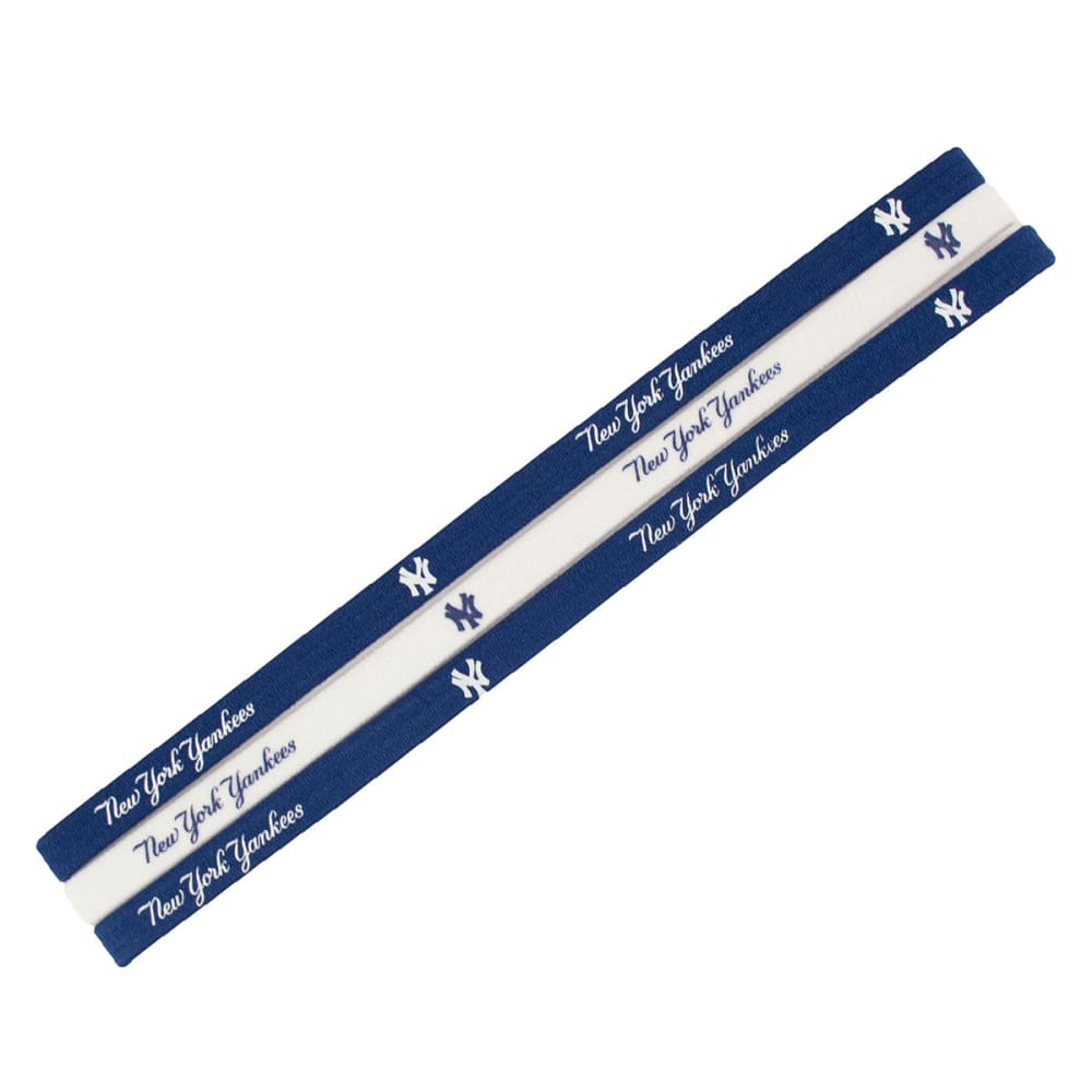 NEW YORK YANKEES Elastic Headband, 3-Pack - YANKEES