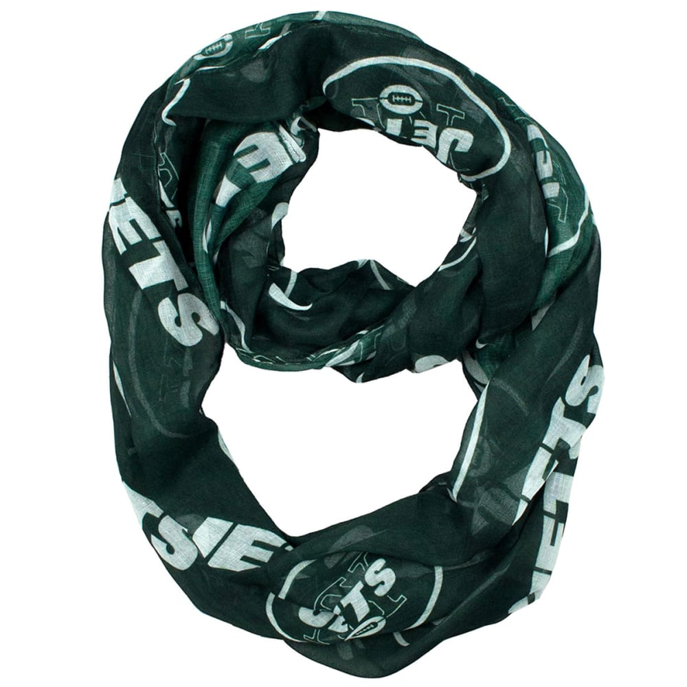 NEW YORK JETS Women's Sheer Infinity Scarf - JETS