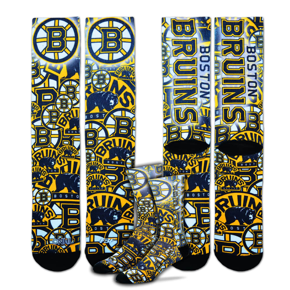 BOSTON BRUINS Montage Sub Crew Socks - ASSORTED