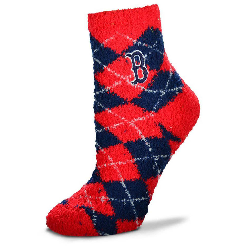 BOSTON RED SOX Men's Argyle Sleep Socks - RED SOX