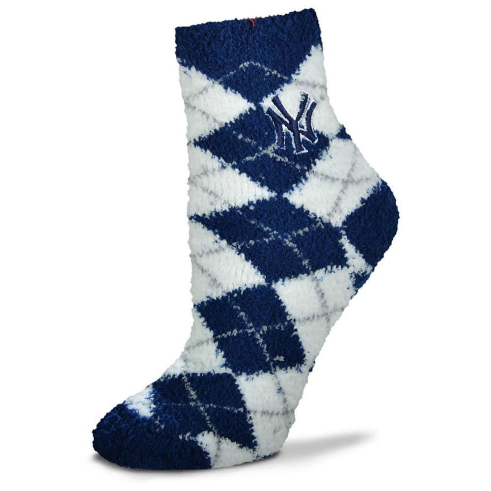 NEW YORK YANKEES Men's Argyle Sleep Socks - THUNDER GREY