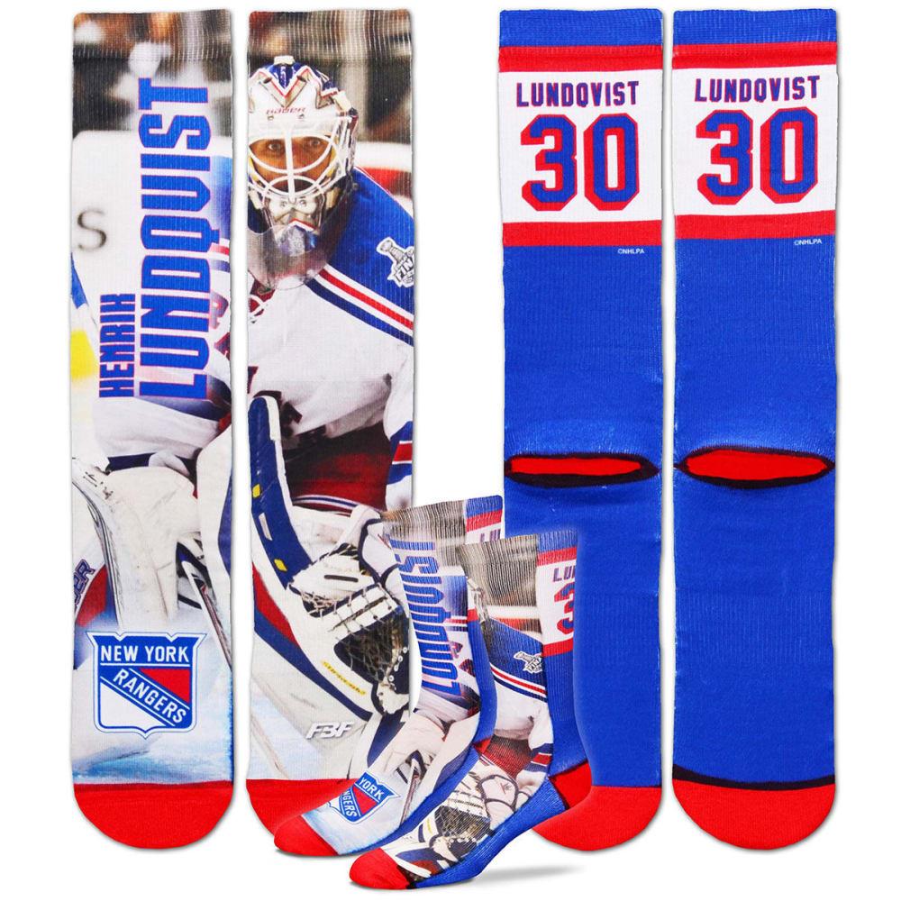 NEW YORK RANGERS Men's Henrik Lundqvist Sublimated Player Crew Socks - RANGERS