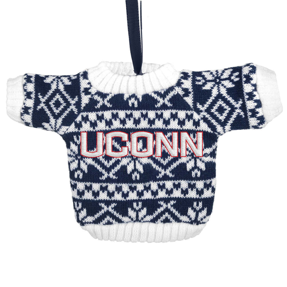 UCONN Knit Sweater Ornament - NVY/WHT