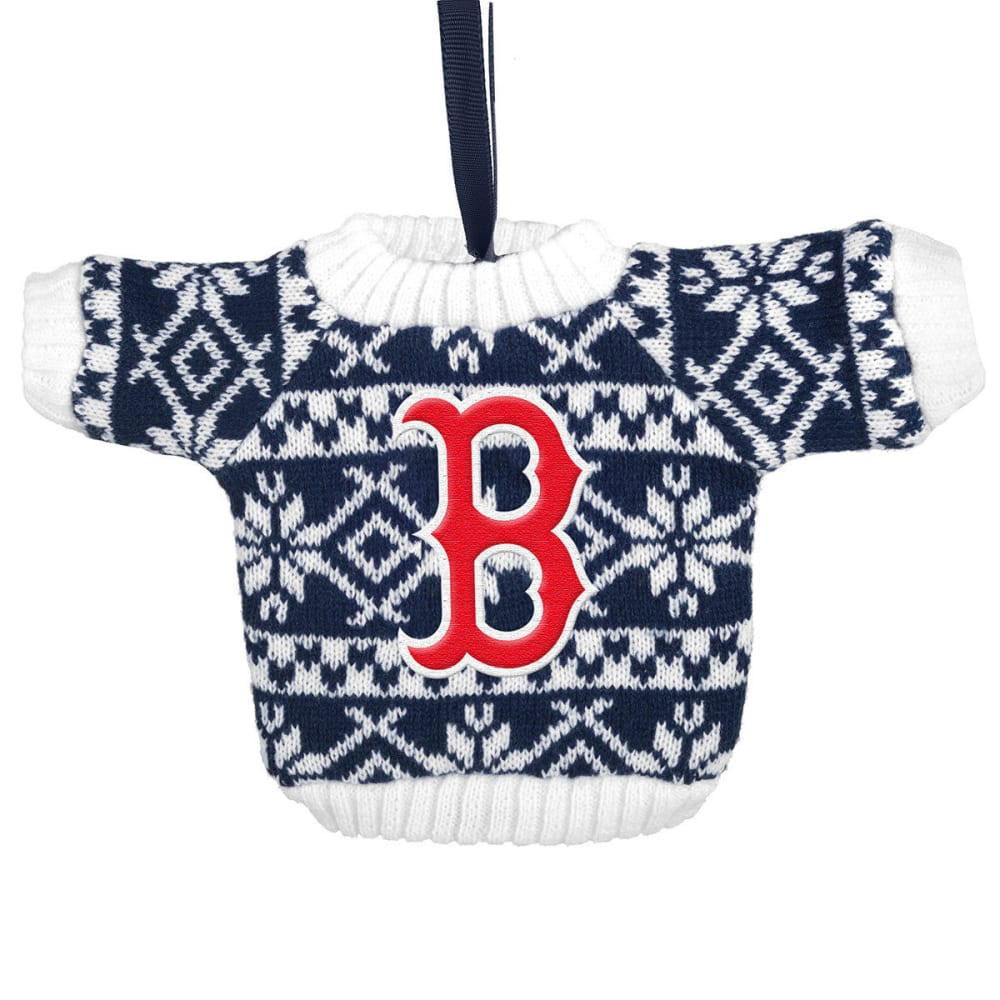 BOSTON RED SOX Knit Sweater Ornament - NVY/WHT