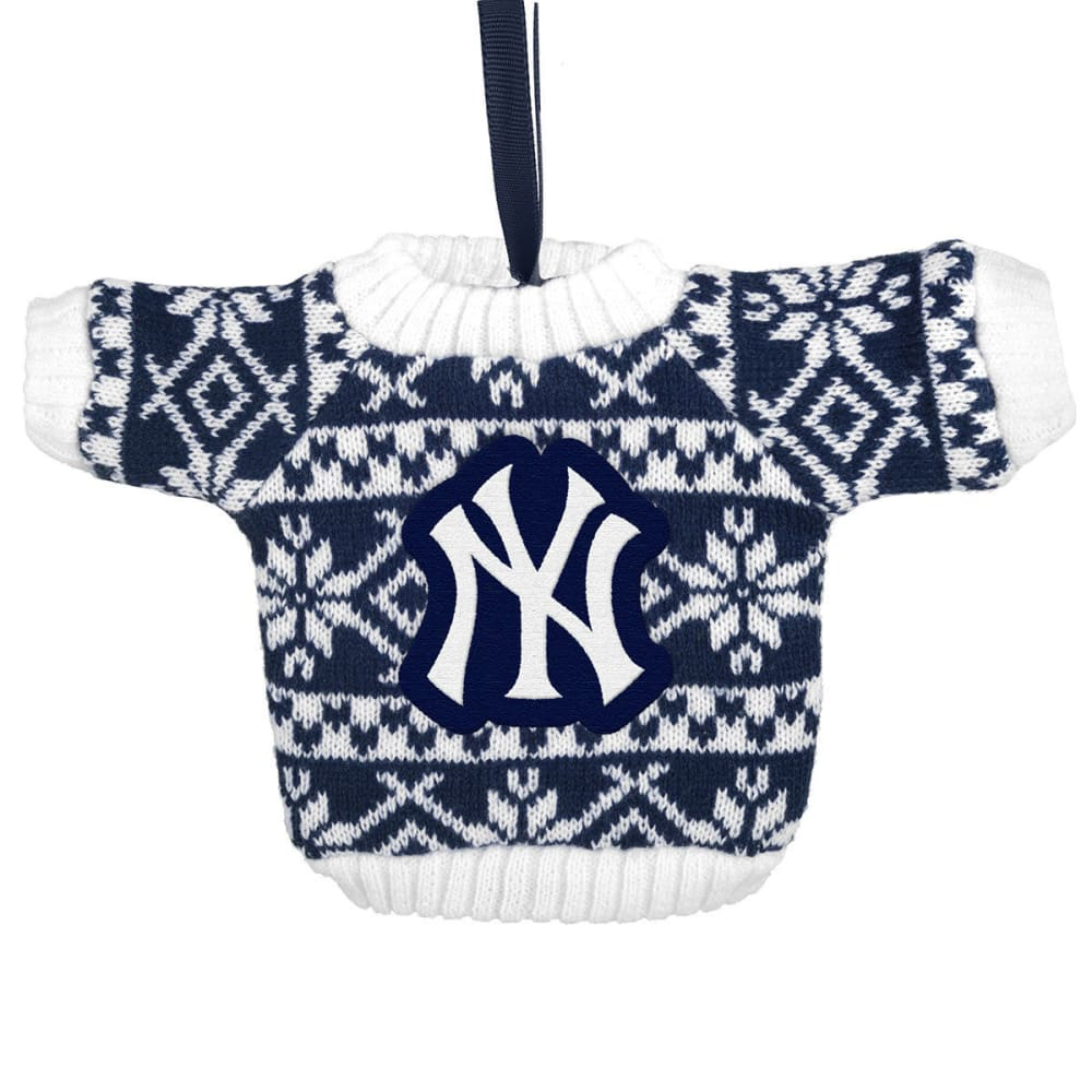 NEW YORK YANKEES Knit Sweater Ornament - NVY/WHT