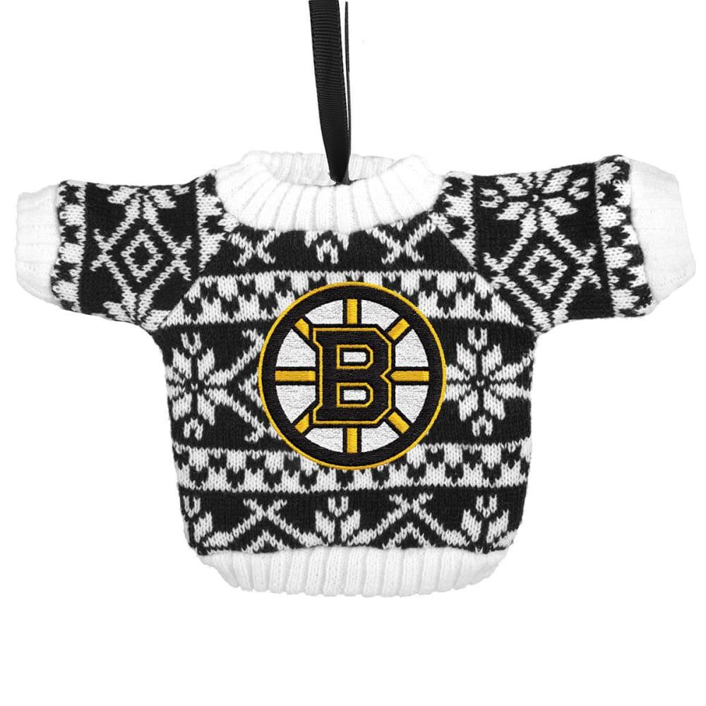 BOSTON BRUINS Knit Sweater Ornament - BLK/WHT
