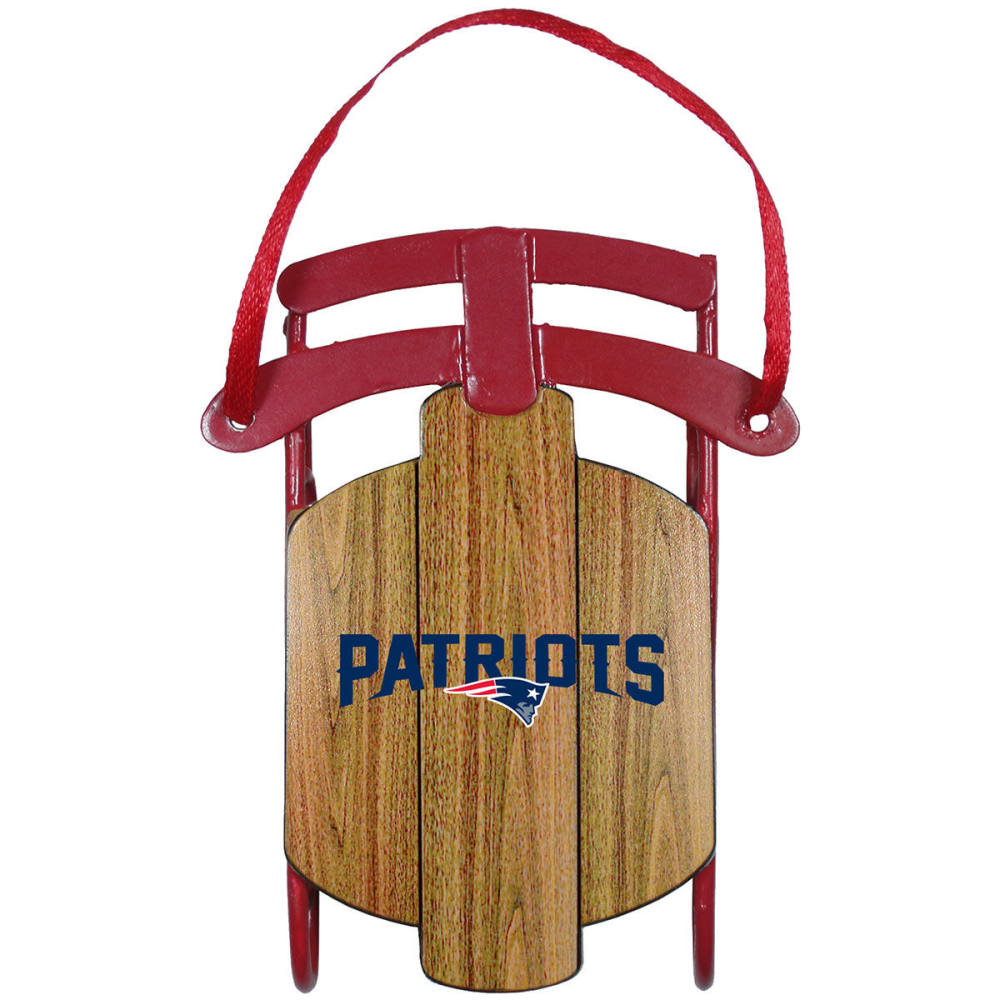 NEW ENGLAND PATRIOTS Metal Sled Ornament - PATRIOTS