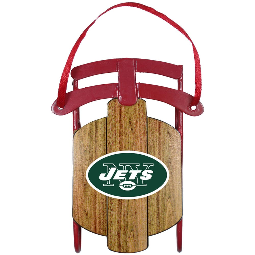 NEW YORK JETS Metal Sled Ornament - JETS