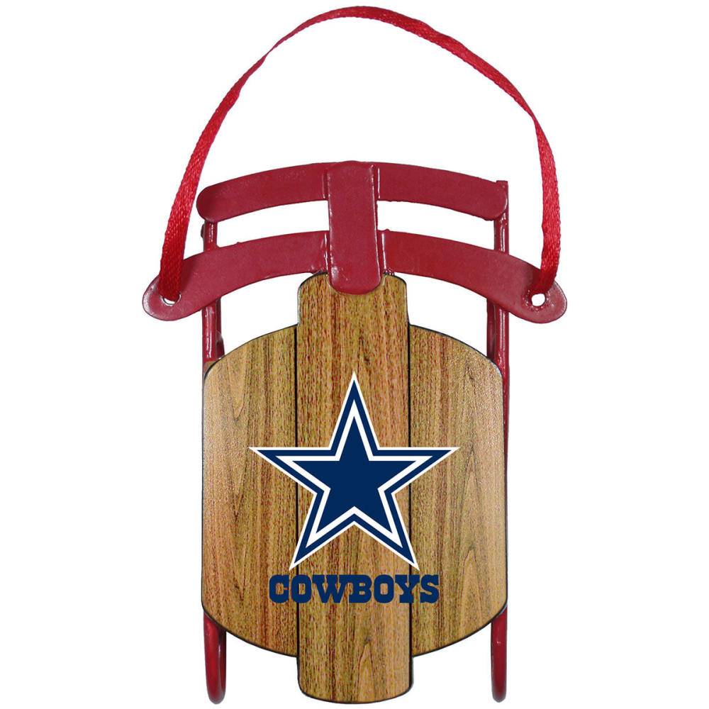 DALLAS COWBOYS Metal Sled Ornament - COWBOYS