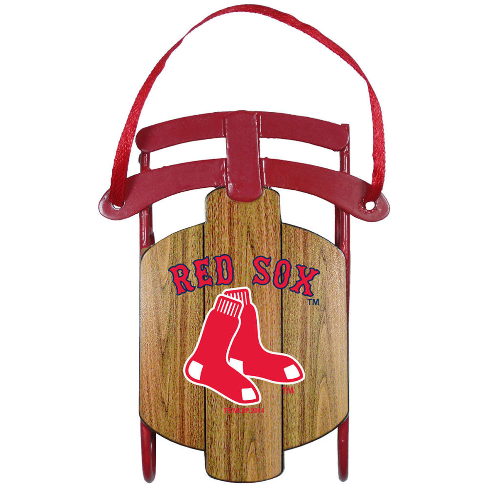 BOSTON RED SOX Metal Sled Ornament ONE SIZE