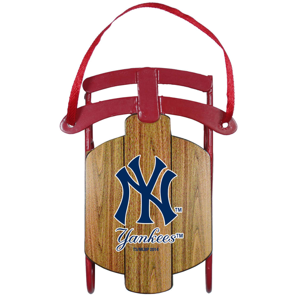 NEW YORK YANKEES Metal Sled Ornament ONE SIZE