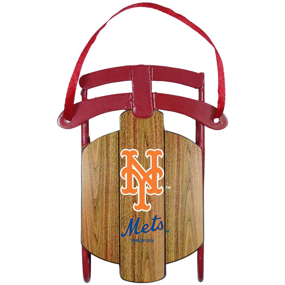 NEW YORK METS Metal Sled Ornament - METS