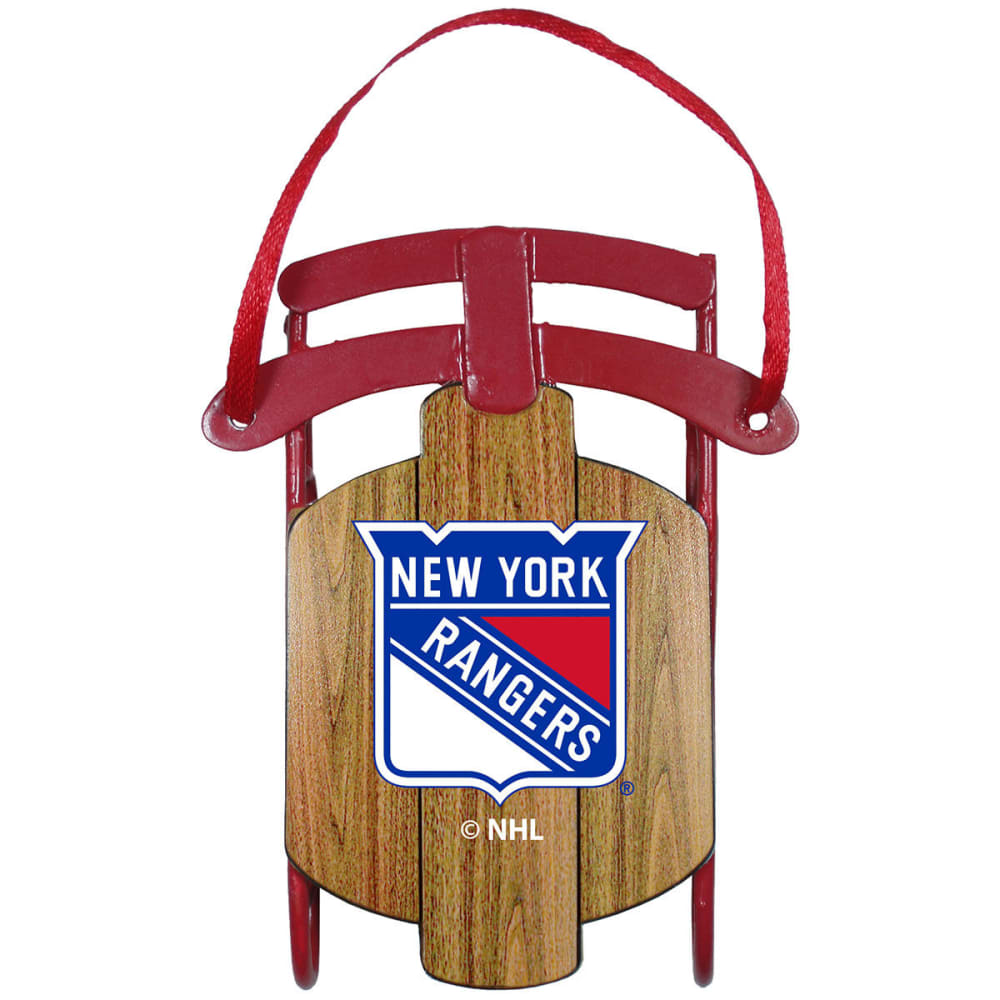 NEW YORK RANGERS Metal Sled Ornament - RANGERS