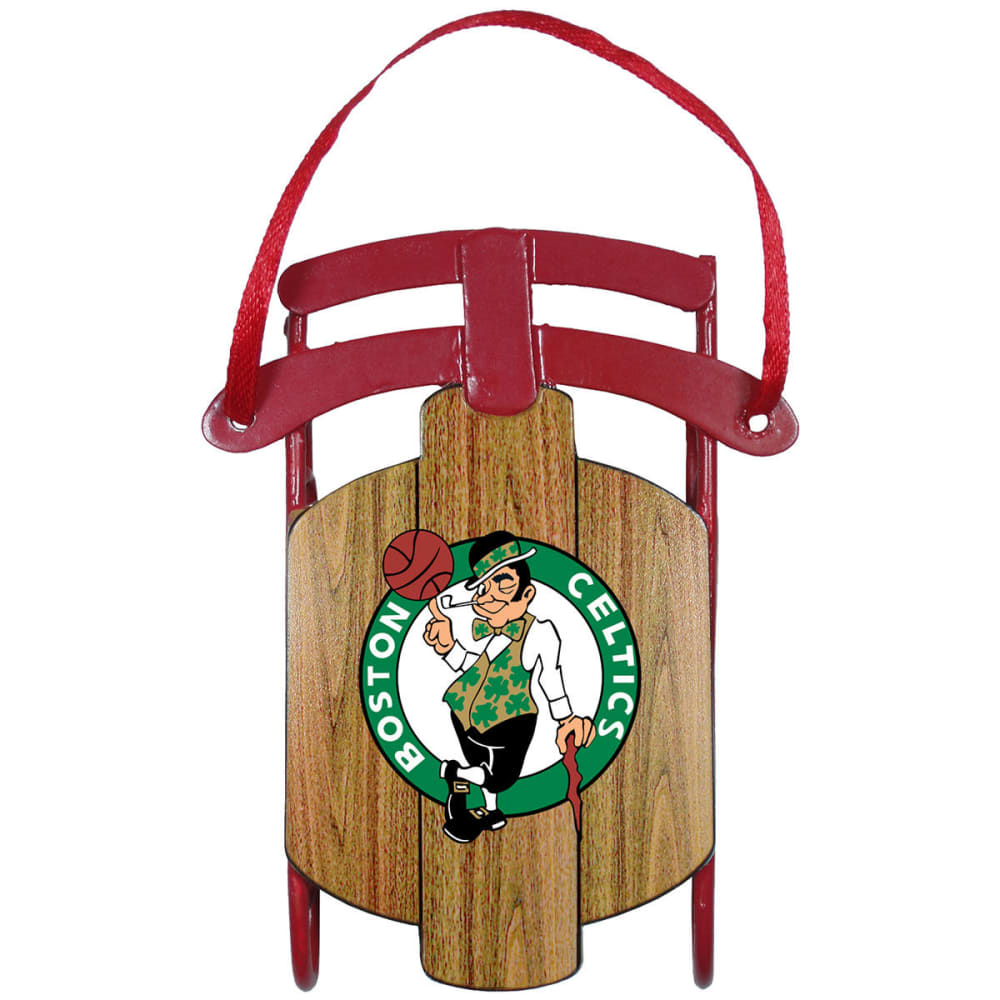 BOSTON CELTICS Metal Sled Ornament - CELTICS