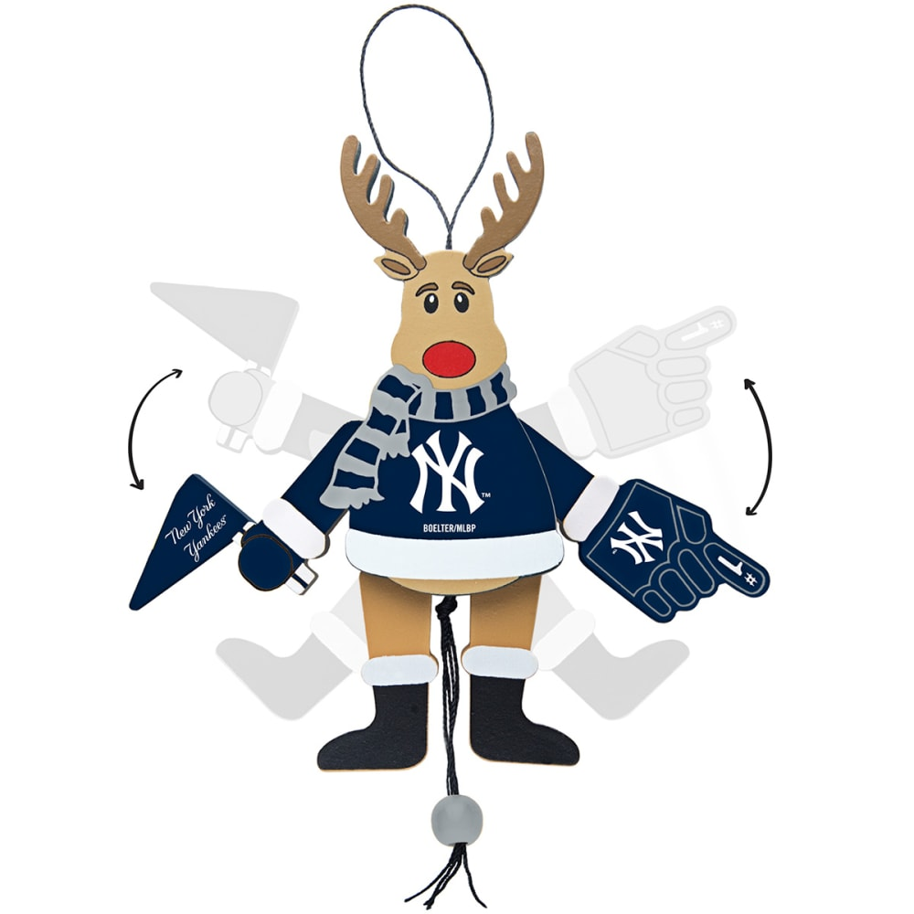 NEW YORK YANKEES Christmas Reindeer Ornament - MULTI