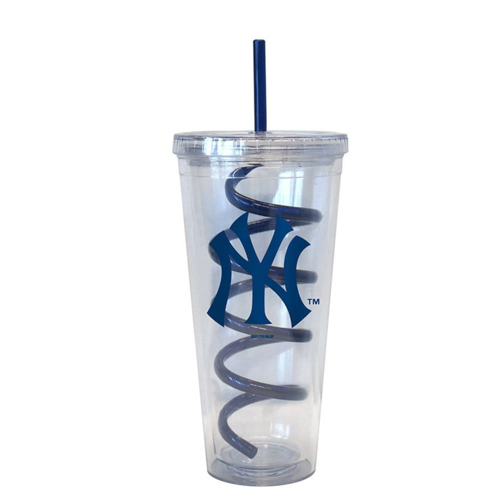 NEW YORK YANKEES Swirl Straw Tumbler - ASSORTED