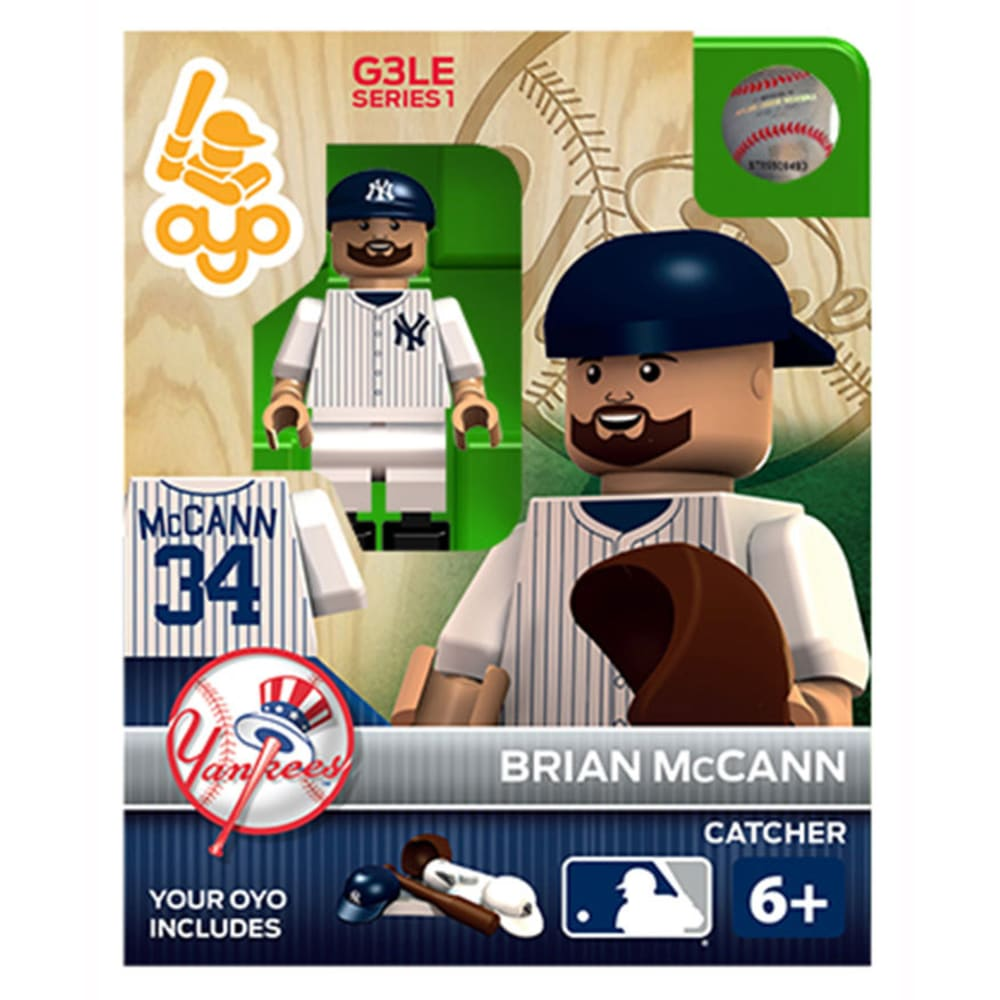 OYO SPORTSTOYS New York Yankees Brian McCann Generation 3 Limited Edition Mini Figure - ASSORTED