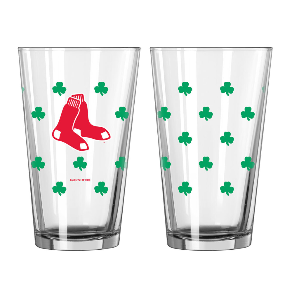 BOSTON RED SOX St. Patrick's Day Pint Glass - NAVY