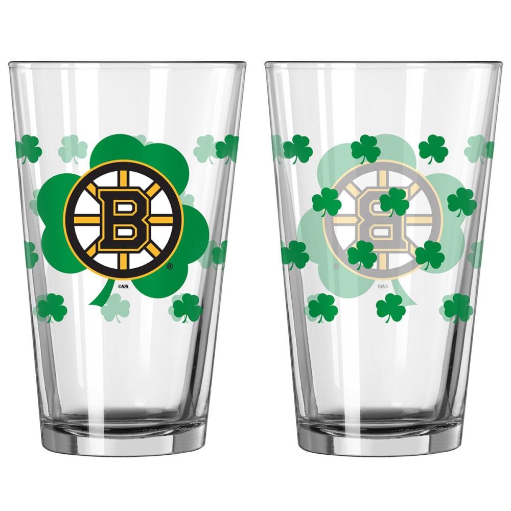 BOSTON BRUINS St. Patrick's Day Pint Glass - BLACK/YELLOW