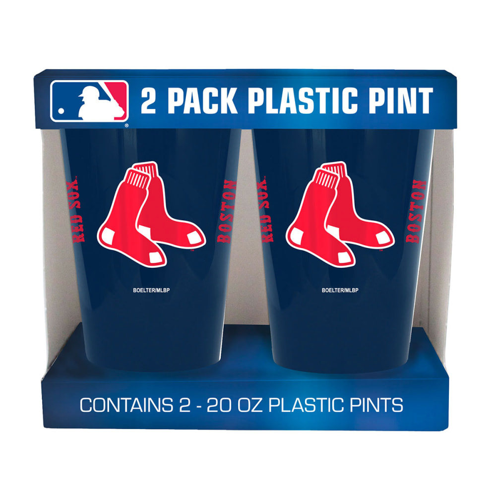 BOSTON RED SOX Two Pack Plastic Pints - NAVY