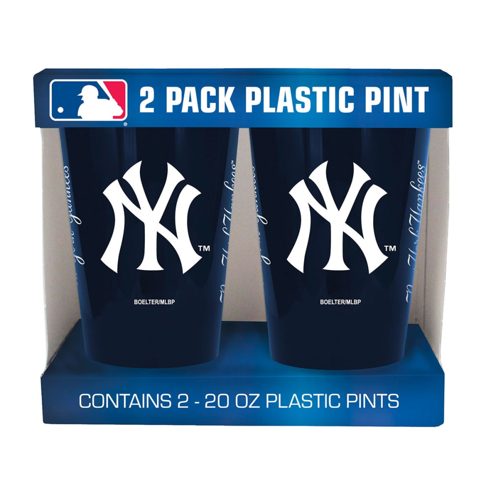 NEW YORK YANKEES Two Pack Plastic Pints - NAVY