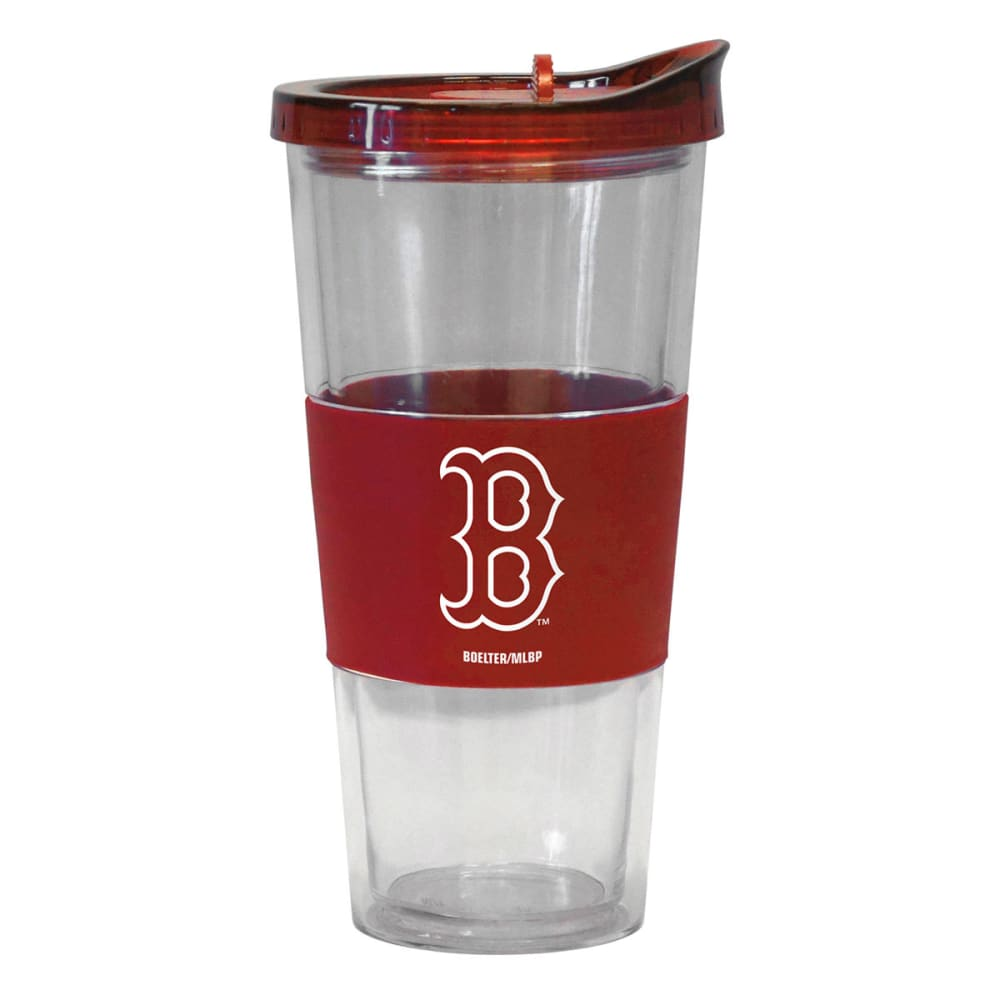 BOSTON RED SOX Slider Top Tumbler Compatible with Propeller Straw - RED
