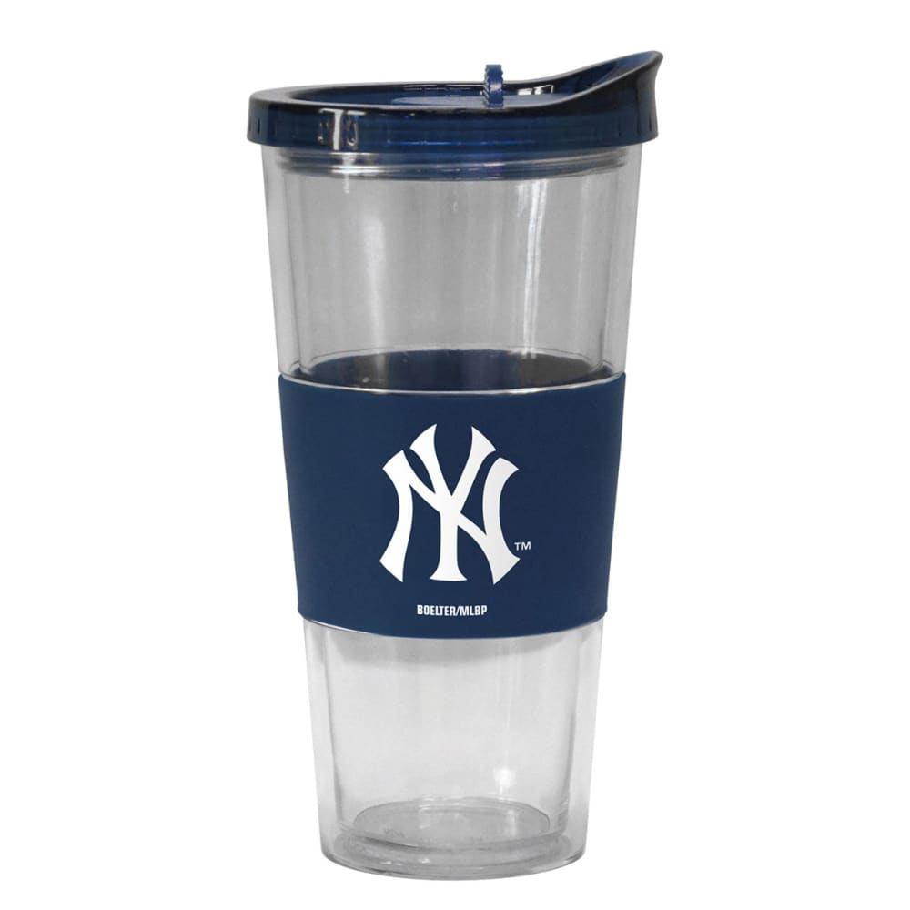 NEW YORK YANKEES Slider Top Tumbler Compatible with Propeller Straw - NAVY