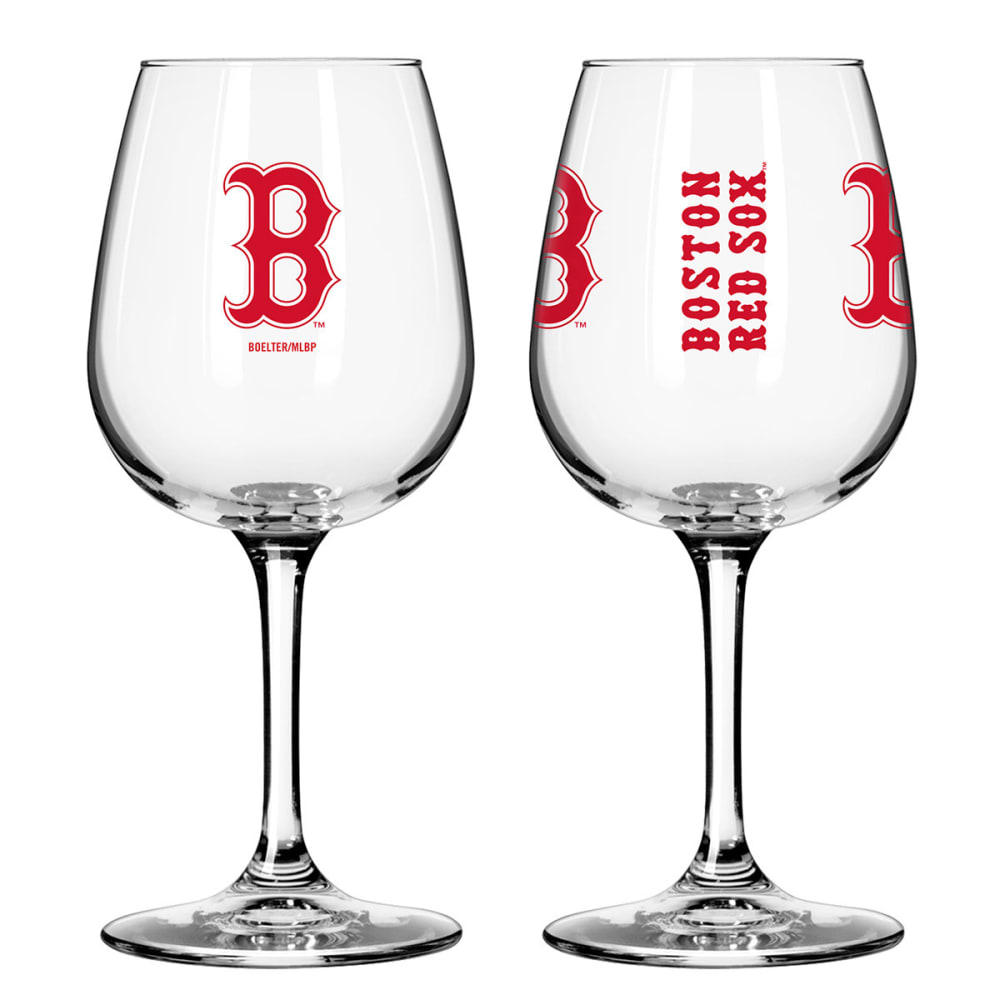 THE BOSTON RED SOX 2 Pack Game Day Wine Glasses - MULTI