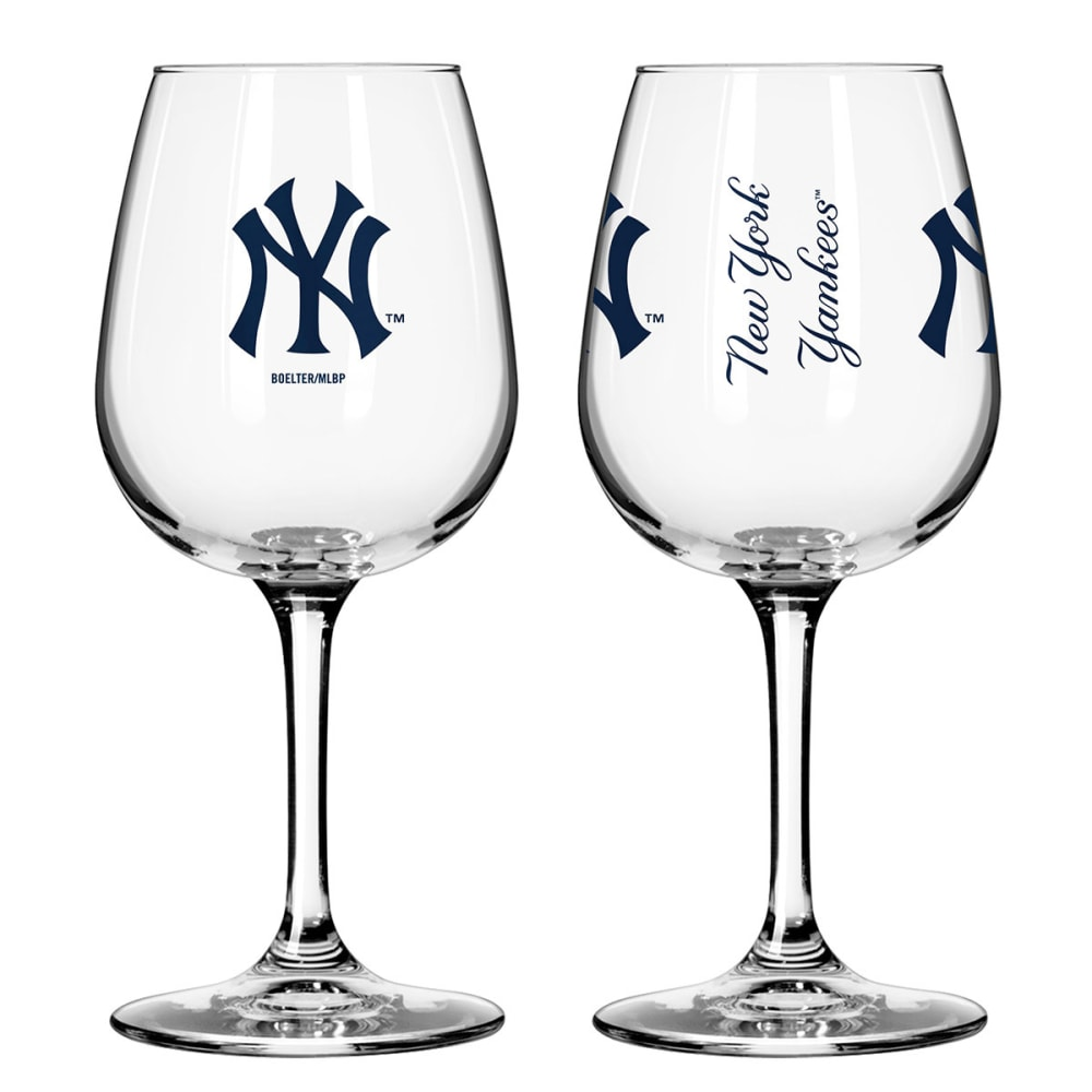 THE NEW YORK YANKEES 2 Pack Game Day Wine Glasses - MULTI