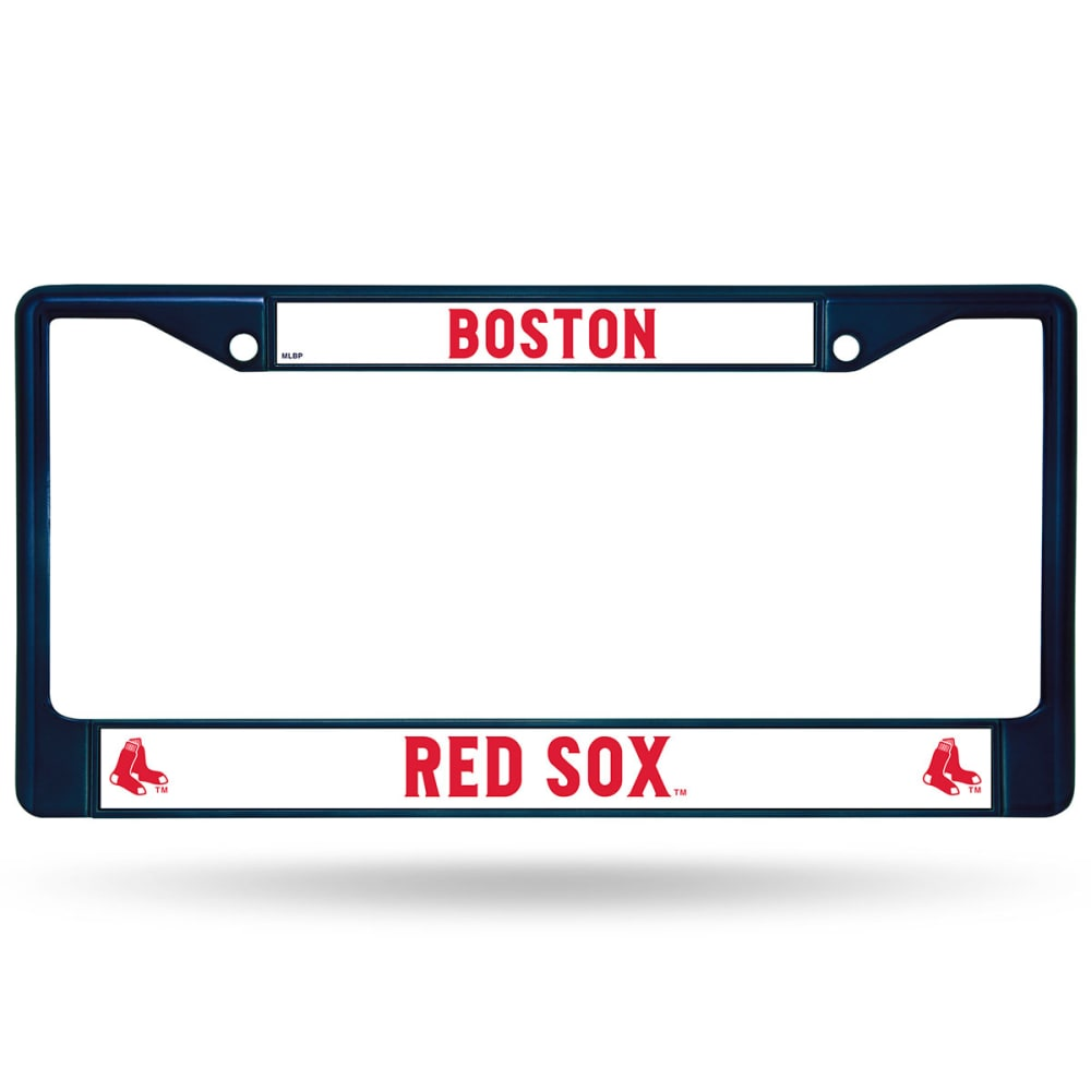 BOSTON RED SOX Navy Chrome License Plate Frame - NAVY
