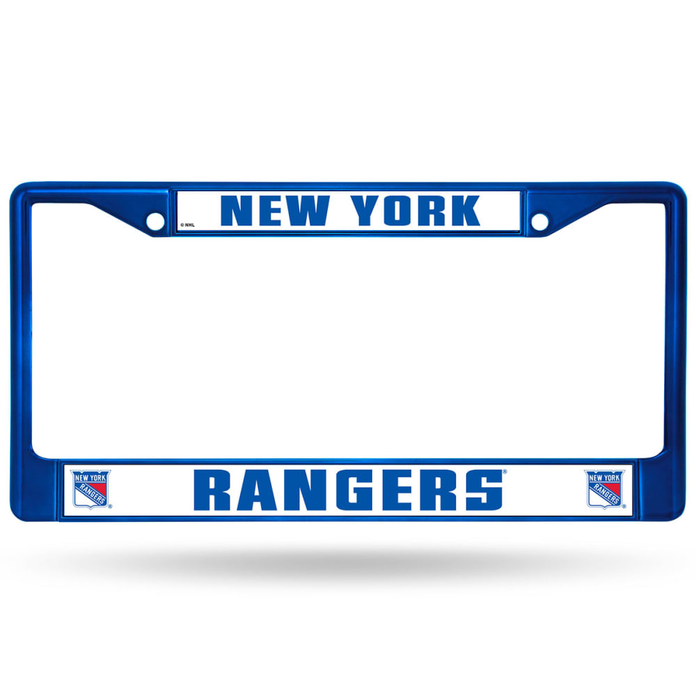NEW YORK RANGERS Chrome License Plate Frame - BLUE CHROME