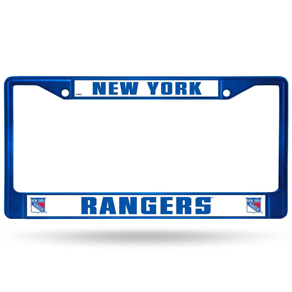 NEW YORK RANGERS Chrome License Plate Frame - BLUE CHROME